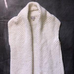 J.Jill Sleeveless Open Sweater Alpaca Knit Medium